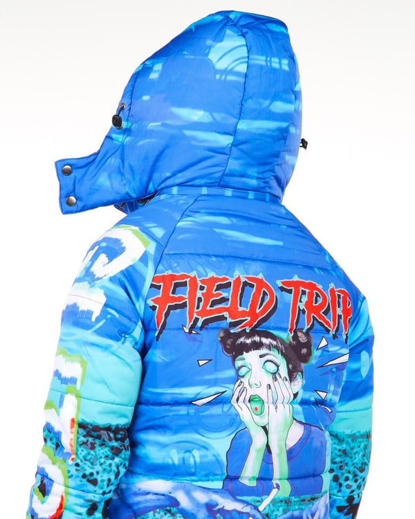 Sugar Hill: Field Trip Puffer Jacket (Ocean)