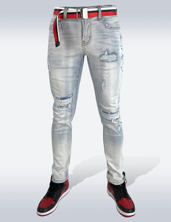 Preme: Prague Indigo Denim (Red Belt)