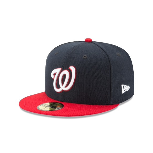 New Era Authentic 59Fifty Fitted: Washington Nationals (Navy/Red)