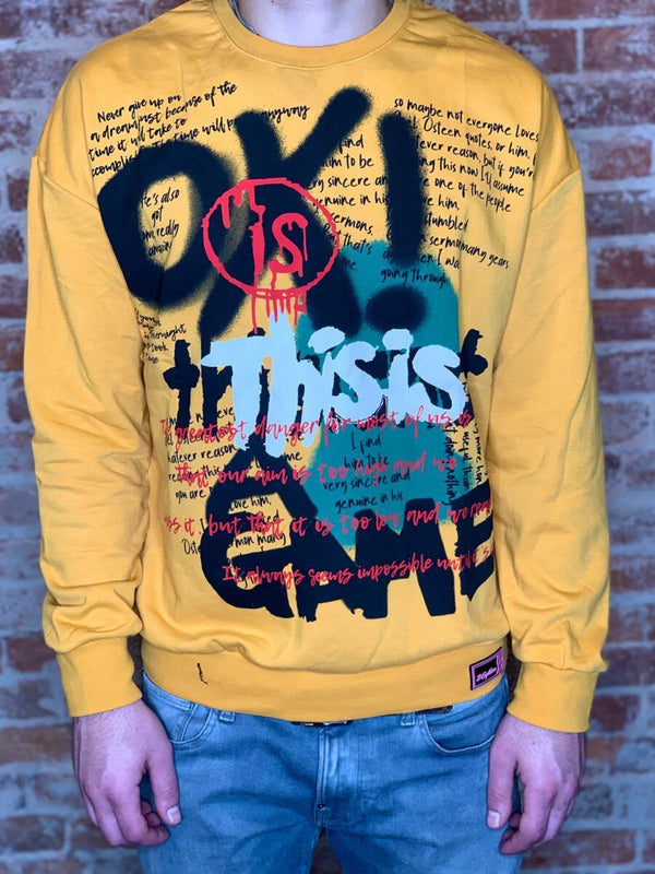 Plus Eighteen: This Is A Game Crewneck (Gold)
