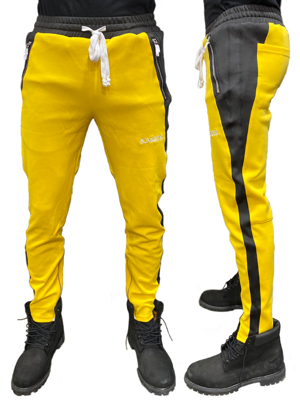Karter Collection: Roosevelt Track Pants (Yellow/Black)