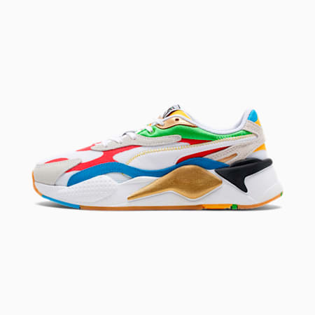 PUMA: RS-X3 WH WOMENS (WHITE-HI RI RED-DRESDEN BLUE)