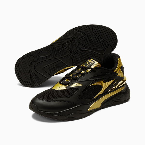 PUMA: RS-FAST METAL (BLACK, TEAM GOLD)