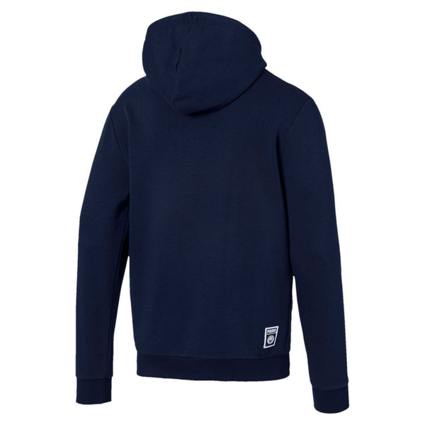 PUMA: MCFC Graphic Hoody  (Peacoat/ Team LIGHT BLUE)