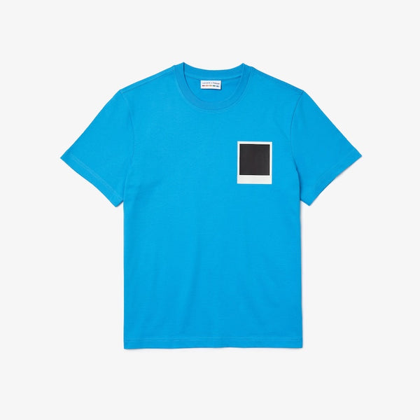 Lacoste: Men's Polaroid Breathable Thermosensitive Badge T-shirt (Blue)