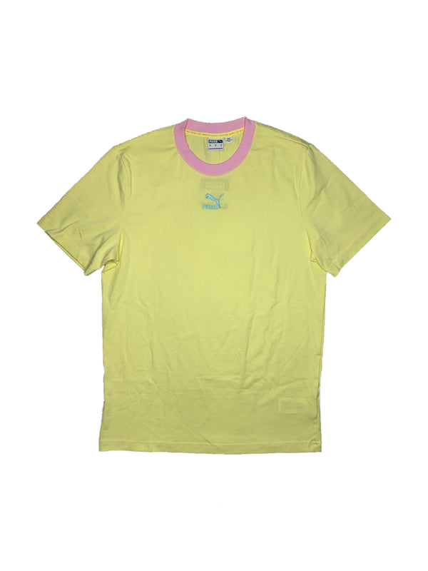 PUMA:CLASSIC RINGER Graphic Tee (Yellow Pear)