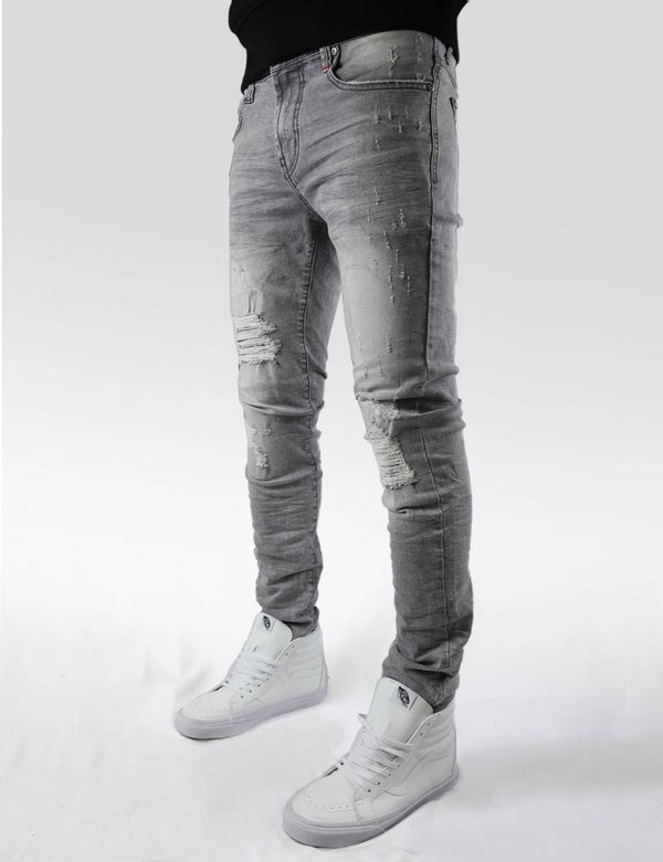 Preme: Berlin Distressed Denim (Grey)