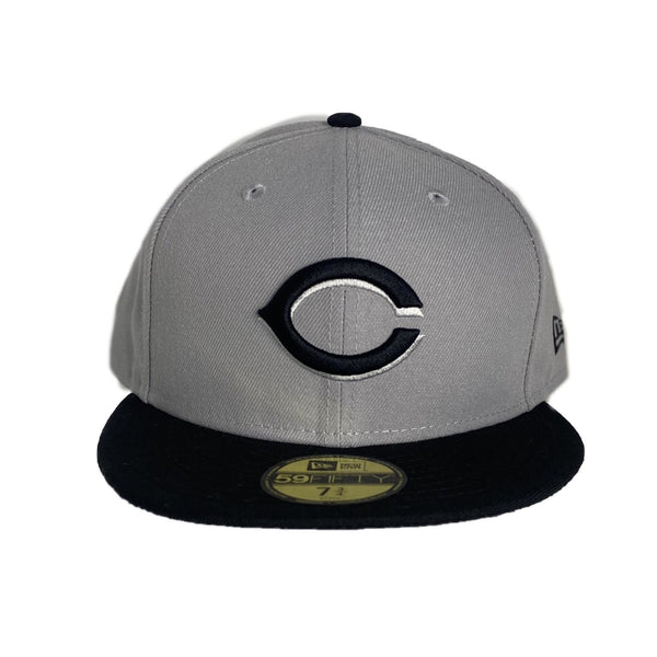 New Era Authentic 59Fifty Fitted: Cincinnati Reds (Grey/Black)