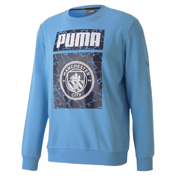 PUMA: MCFC Culture sweater (Team Light Blue/Puma White)