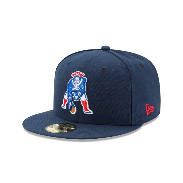 New Era Authentic 59Fifty Fitted: New England Patriots Classic Logo (Navy)