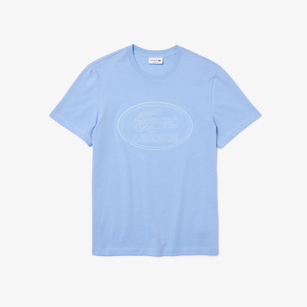 Lacoste: Embroidered Logo T-shirt (Blue)