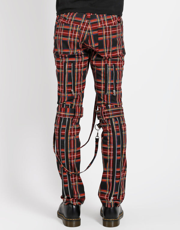TRIPP: Plaid Bondage Jeans (Red/Black)
