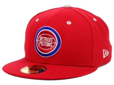 New Era Authentic 59Fifty Fitted: Detroit Piston (Red)