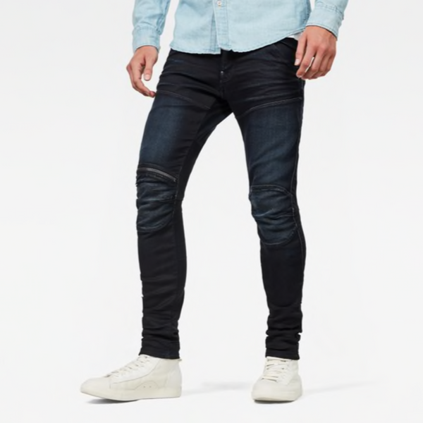 G-STAR RAW: 5620 3D ZIP KNEE SKINNY Denim Jeans (DARK AGED)