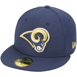 New Era Authentic 59Fifty Fitted: Los Angelos Rams (Navy)