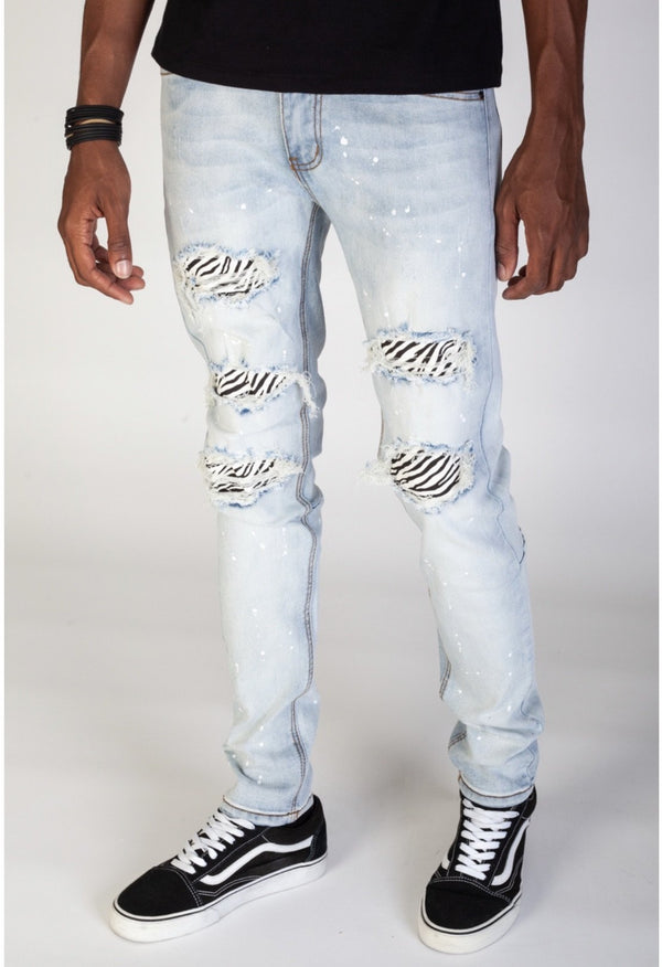 KDNK: Comfort Stretch Denim (White Zebra)