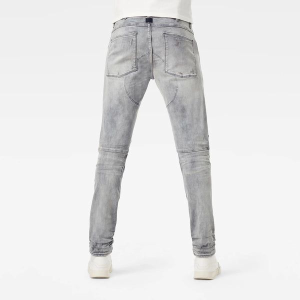 G-STAR RAW: 5620 3D ZIP KNEE SKINNY Denim Jeans (VINTAGE ORION GREY DESTROYED)