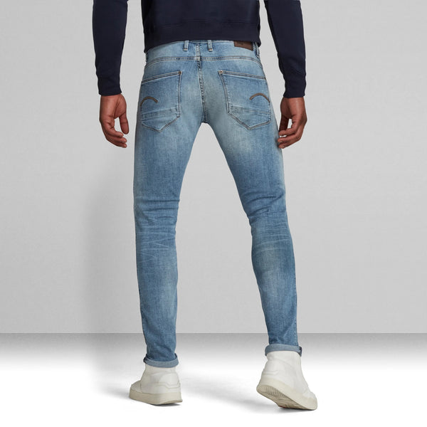 G-STAR RAW: REVEND SKINNY Denim Jeans (Light indigo Aged)