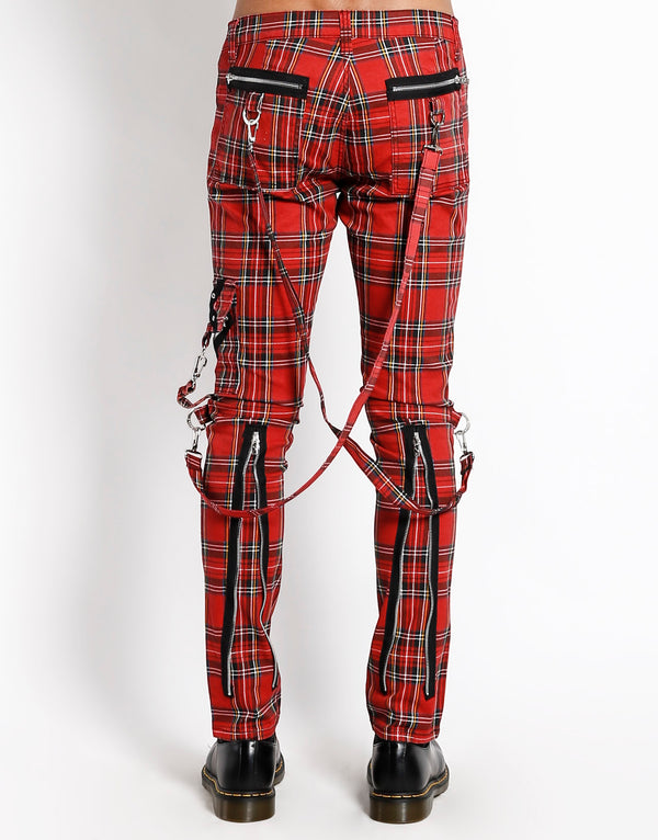 TRIPP: Plaid Bondage Jeans (Red)