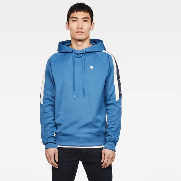G-Star Raw: SIDE STRIPE HOODED SWEATER (THERMEN)