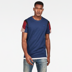 G-Star Raw: MOTAC FABRIC MIX T-SHIRT (Imperial Blue)