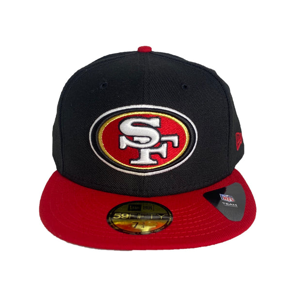 New Era Authentic 59Fifty Fitted: San Francisco 49ers (Black/Red)