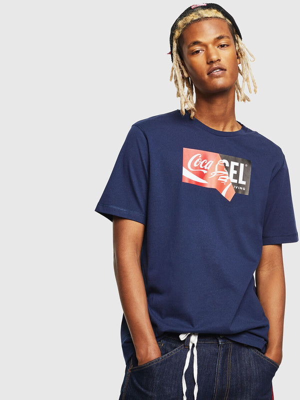 Diesel: T-JUST-COLA T-Shirt (Midnight/Blue)