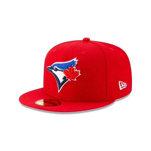 New Era Authentic 59Fifty Fitted: Toronto Bluejays (Red)