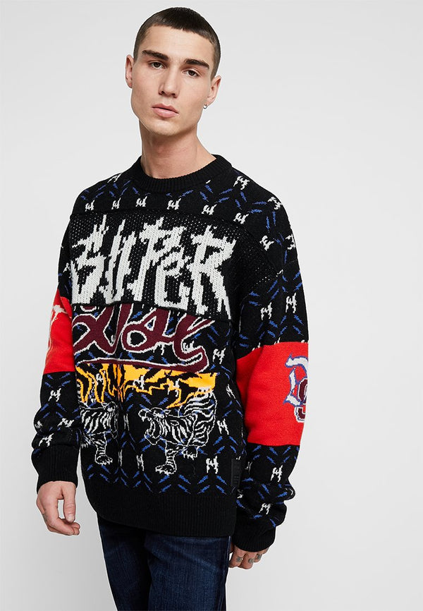 DIESEL: K-SUP PULLOVER SWEATER (BLACK)