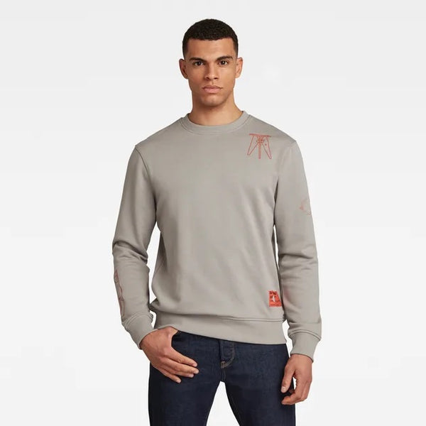 G-Star Raw: OBJECT GRAPHIC SWEATER (Charcoal)