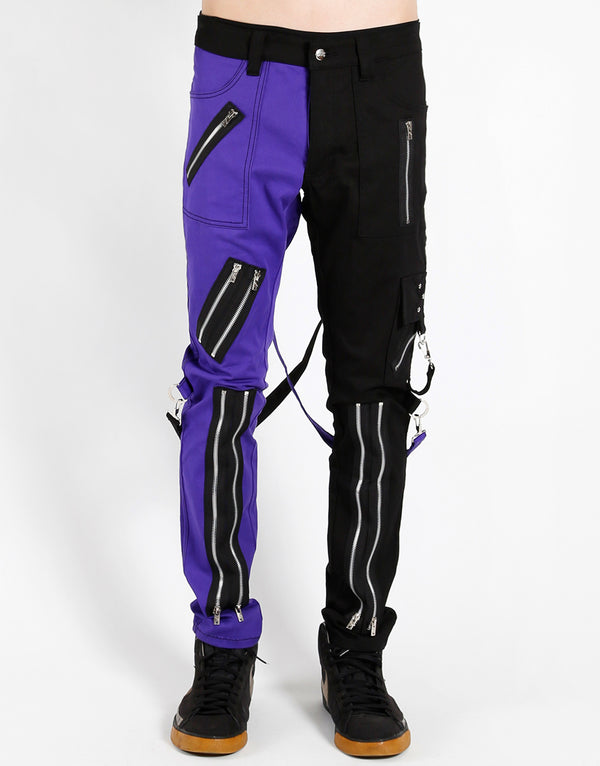 TRIPP: Split Bondage Jeans (Purple/Black)