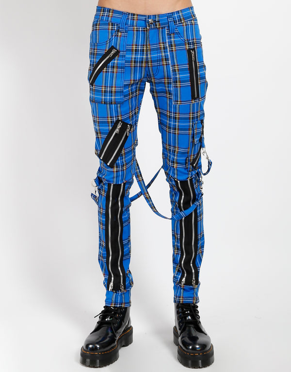 TRIPP: Plaid Bondage Jeans (Blue)