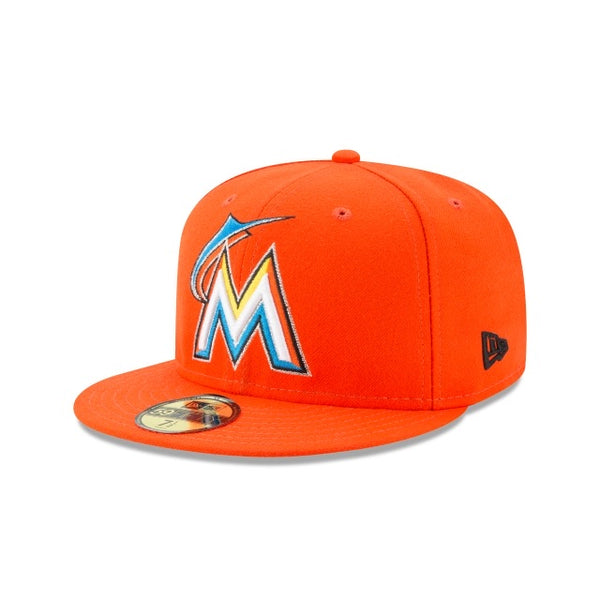 New Era Authentic 59Fifty Fitted: Miami Marlins (Orange)