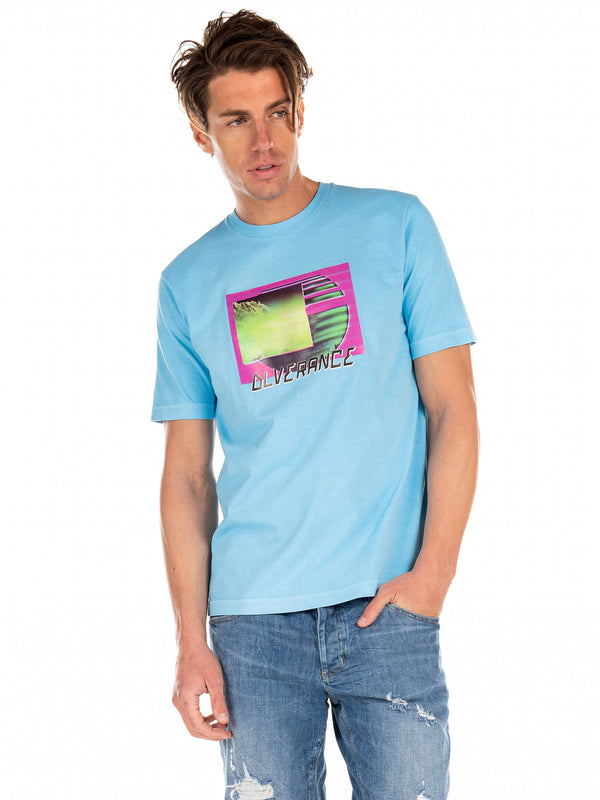 Diesel: T-JUST-NEON-S1 T-Shirt (Light/Blue)