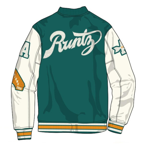 RUNTZ: ALL COUNTY VARSITY JACKET (Jade/Yellow)