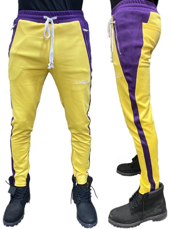 Karter Collection: Roosevelt Track Pants (Yellow/Purple)