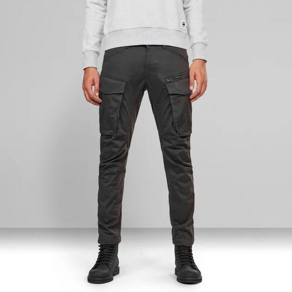 G-STAR RAW: ROVIC ZIP 3D KNEE STRAIGHT TAPERED CARGO PANTS (RAVEN)