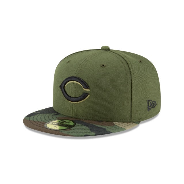New Era Authentic 59Fifty Fitted: Cincinnati Reds (Camo)