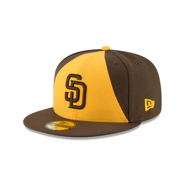 New Era Authentic 59Fifty Fitted: San Diego Padres (Brown/Yellow)