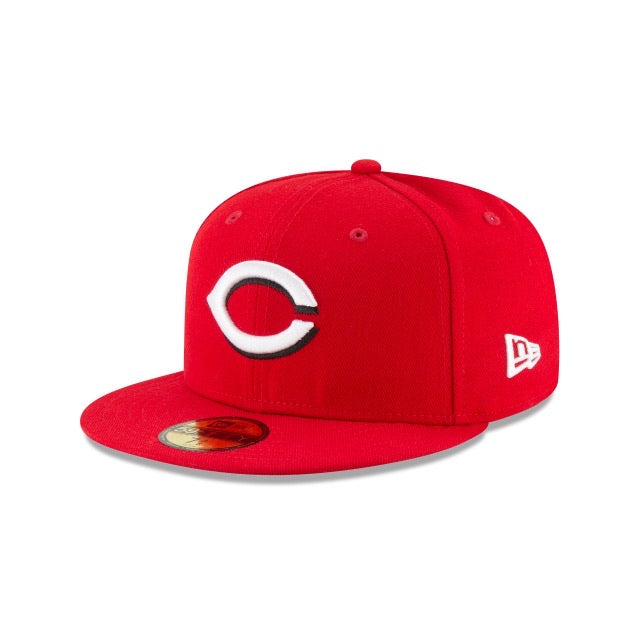 New Era Authentic 59Fifty Fitted: Cincinnati Reds (Red)