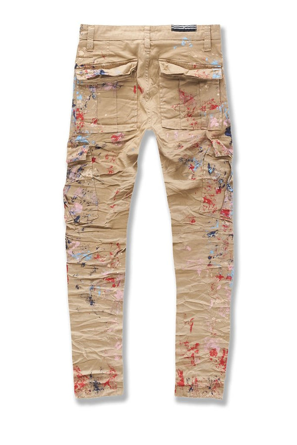 Jordan Craig: Sean Highland Stacked Cargo Pants (Painted Khaki)