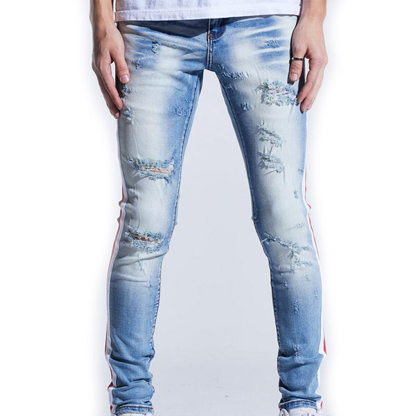 Karter Collection: Noah Denim (White/Red)