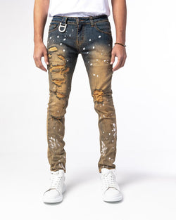 GALA: HYDE VINTAGE WHEAT DENIM