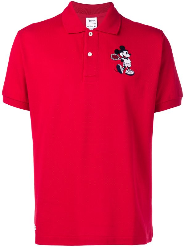 Lacoste: Men's Disney Classic Fit Mickey Polo Shirt (Lighthouse Red)