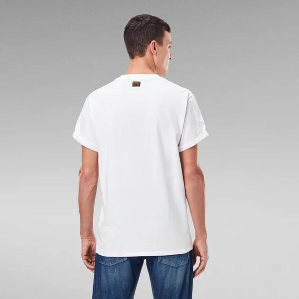 G-STAR RAW: EMBRO GRADIENT GRAPHIC LASH T-SHIRT (WHITE)