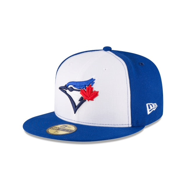 New Era Authentic 59Fifty Fitted: Toronto Bluejays (White)