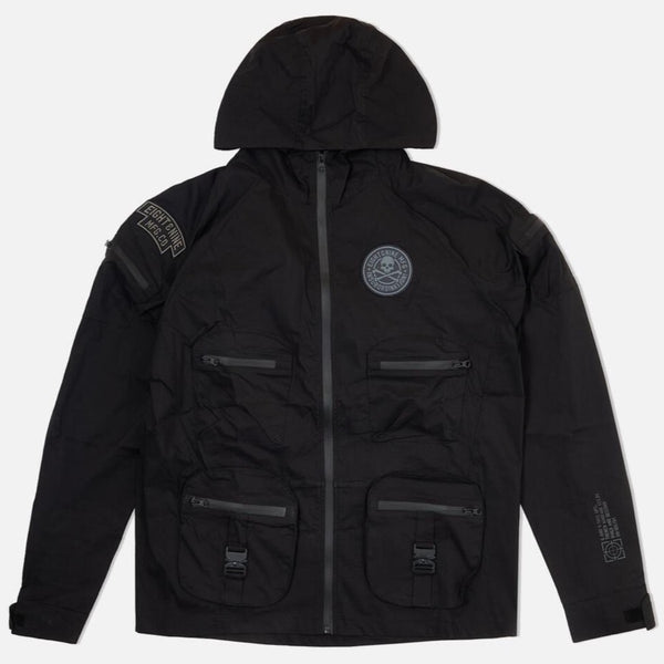 8&9: 8&9 Combat Nylon Jacket Black