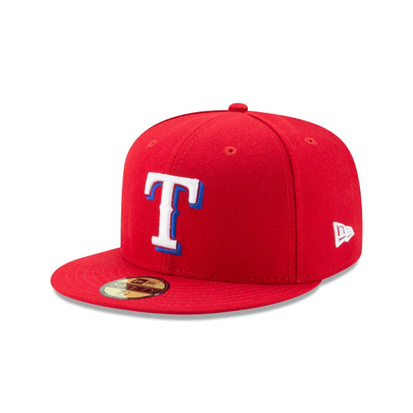 New Era Authentic 59Fifty Fitted: Texas Rangers (Red)