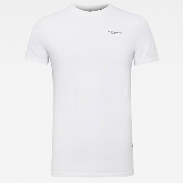 G-Star Raw: SLIM BASE T-SHIRT (WHITE)
