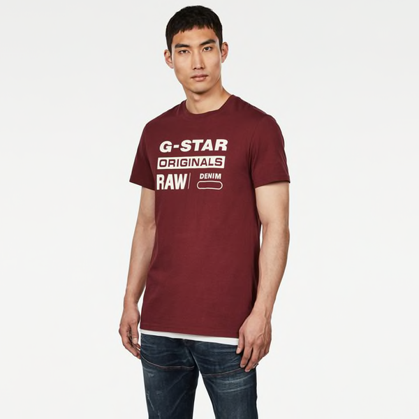 G-STAR RAW: GRAPHIC 8 T-SHIRT (Port Red)